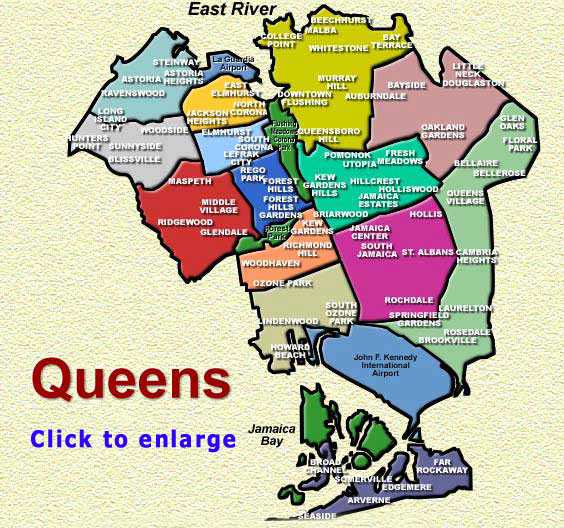 Map Flushing Queens Newyork apartments roommates rentals rent